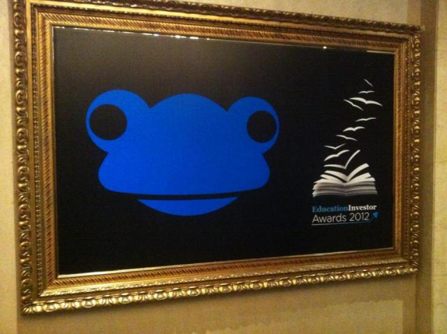 Frog head in frame