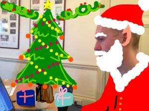 Santa getting ready