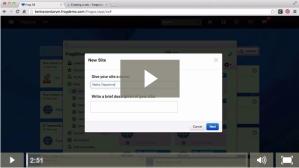 Create a site - video